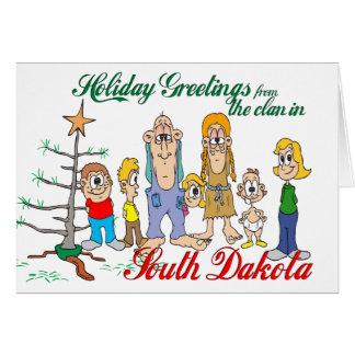 Carte Salutations de vacances du Dakota du Sud