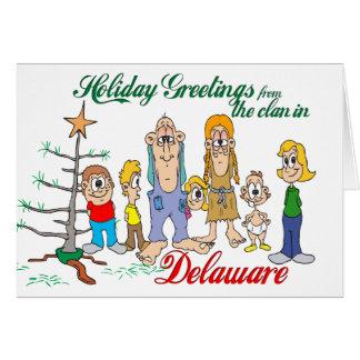 Carte Salutations de vacances du Delaware