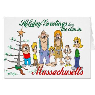Carte Salutations de vacances du Massachusetts