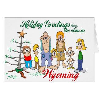 Carte Salutations de vacances du Wyoming