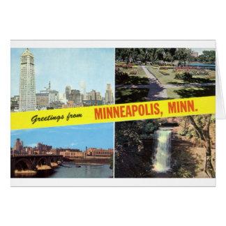 Carte Salutations des années 1950 de Minneapolis