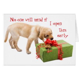 Carte Salutations drôles de vacances du chien