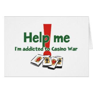 Carte Salutations d'un intoxiqué de Casino-Guerre