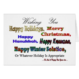 Carte Salutations multi de vacances