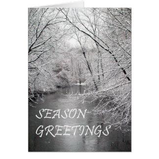 Carte Salutations Riverview de saison