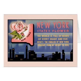 Carte Salutations vintages de fleur de l'état de