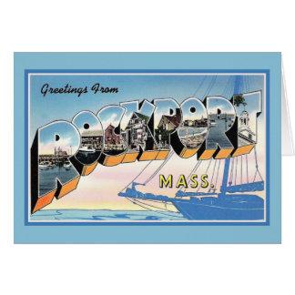 Carte Salutations vintages de Rockport le Massachusetts