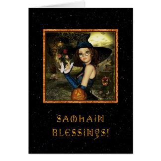 Carte Samhain béni - étoiles de sorcière