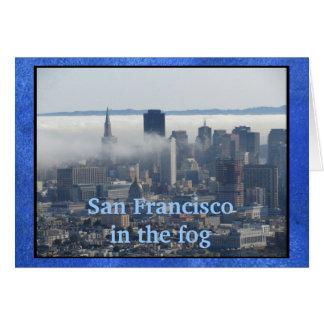 Carte San Francisco dans le brouillard