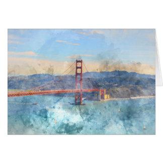 Carte San Francisco golden gate bridge en Californie