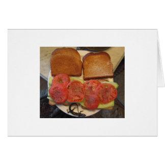 Carte Sandwich à tomate et à concombre