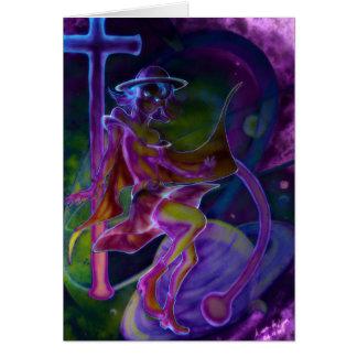 Carte Saturn venteux psychédélique