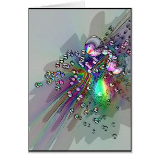 Carte Sautant le liège - bulles de nouvelle année