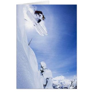 Carte Sauter de skieur