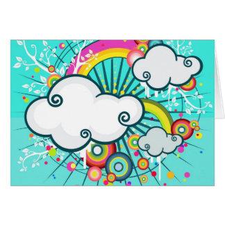 Carte sauvage de conception de nuages