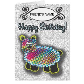 Carte SAUVAGE de joyeux anniversaire d'ours