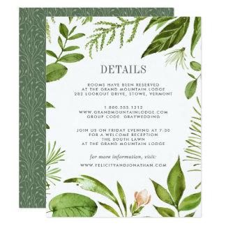 Carte sauvage de l'information d'invité de pré carton d'invitation 10,79 cm x 13,97 cm