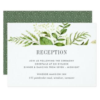 Carte sauvage de réception de pré carton d'invitation 8,89 cm x 12,70 cm