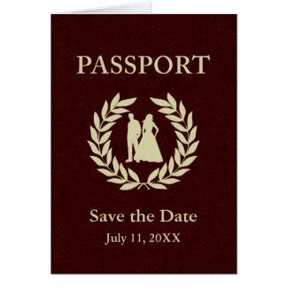 Carte sauvez le passeport de mariage de date