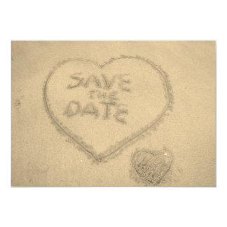 Carte Sauvez le sable de plage de date