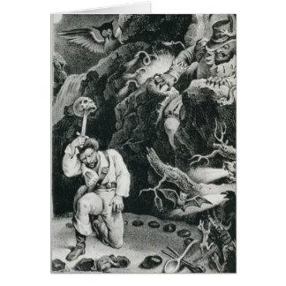 Carte Scène de l'opéra 'Der Freischutz