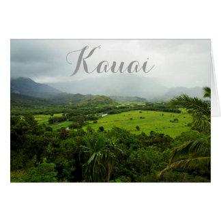 Carte Scène de paysage de Kauai, Hawaï