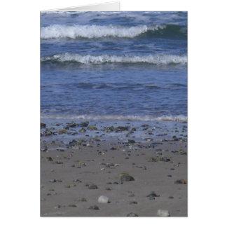 Carte scène de plage