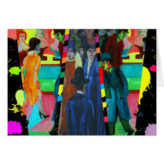 Carte Scène de rue par Ernst Ludwig Kirchner