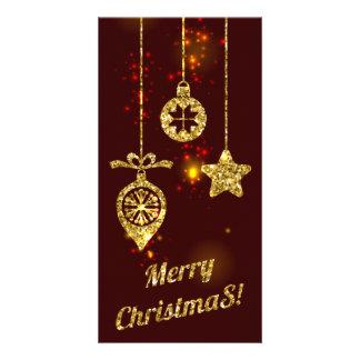 Carte Scintillement rouge de vacances de Joyeux Noël
