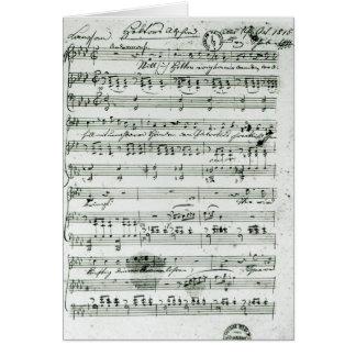 Carte Score manuscrit pour le 'Hektors trouvé Abschied