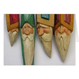 Carte Sculptures sur bois en Père Noël (no. 0701)