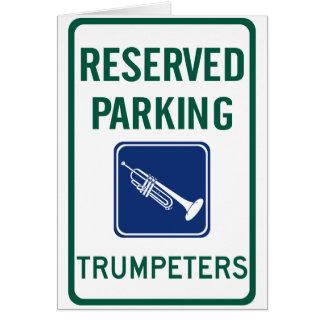 Carte Se garer de trompettistes