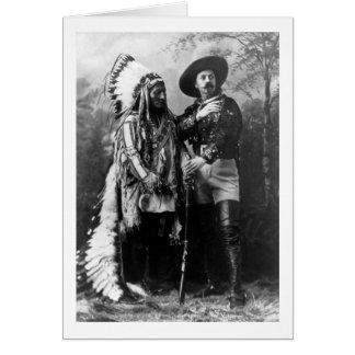 Carte Séance en chef Taureau et Buffalo Bill 1895
