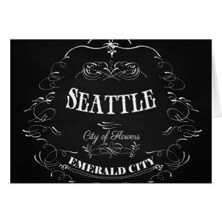 Carte Seattle Washington - ville des fleurs