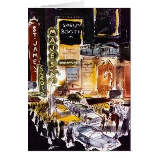 Carte Secteur New York City NYC Broadway de théâtre de