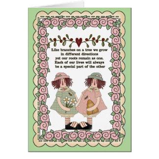 Carte sentimentale de soeurs