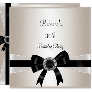 Carte Sépia argentée de bijou anniversaire blanc noir