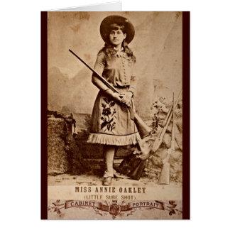 Carte Sépia d'Annie Oakley