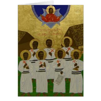 Carte Sept martyres saints de la confrérie mélanésienne