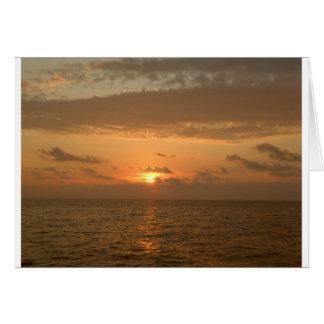 Carte Sérénade de coucher du soleil