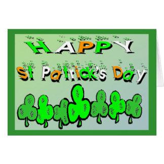 Carte Shamrocks du jour de St Patrick