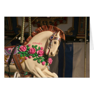 Carte Sidney le cheval de carrousel