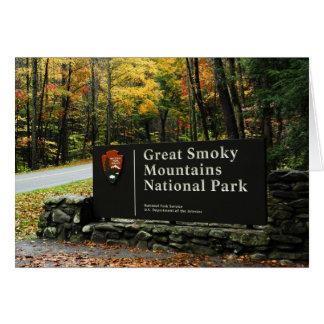 Carte Signe de Great Smoky Mountains