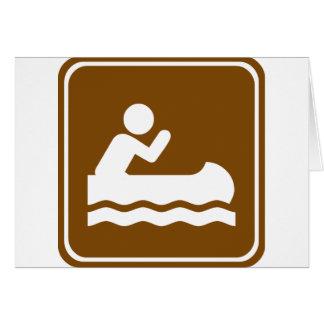 Carte Signe de route de canoë-kayak de l'eau blanche