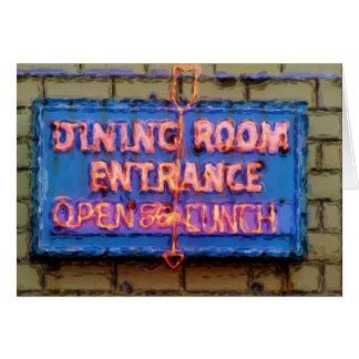 Carte Signe de salle à manger du restaurant d'Iaria,