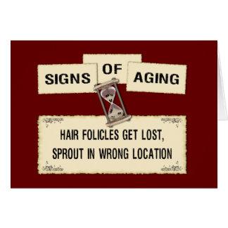 Carte Signes du vieillissement - cheveux perdus Folicles