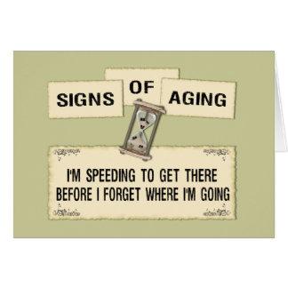 Carte Signes du vieillissement - expédiant