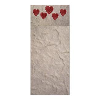 Carte Signet de coeur d'amour