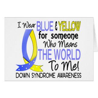Carte Signifie le monde à moi syndrome de Down