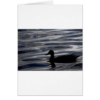 Carte Silhouette de canard